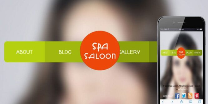 Spa Saloon Beauty Parlour Mobile Website Template