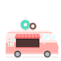 CSS DONUTS TRUCK ILLUSTRATION