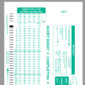 SCANTRON ANSWER SHEET