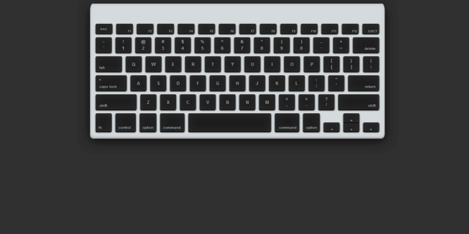 APPLE WIRELESS KEYBOARD WITH CSS3