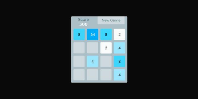 RESPONSIVE 2048 GAME