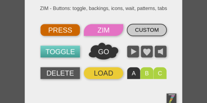 EASY BUTTONS FOR THE CANVAS WITH ZIMJS