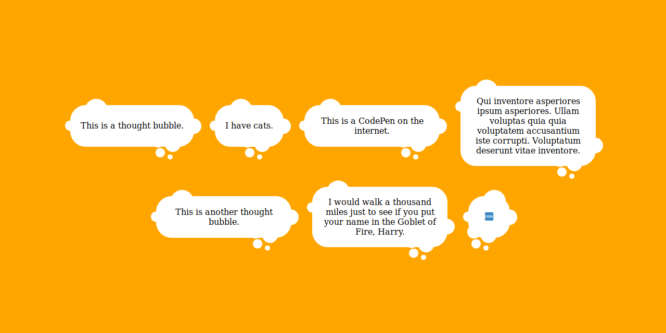 PURE CSS THOUGHT BUBBLES