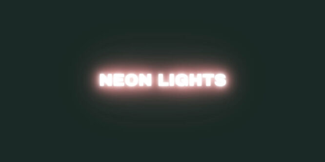 NEON LIGHT TEXT