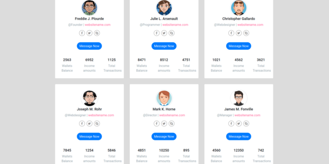 BOOTSTRAP PROFILE CONTACTS