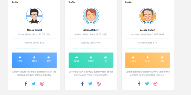 BOOTSTRAP 4 SELLER PROFILE CARDS