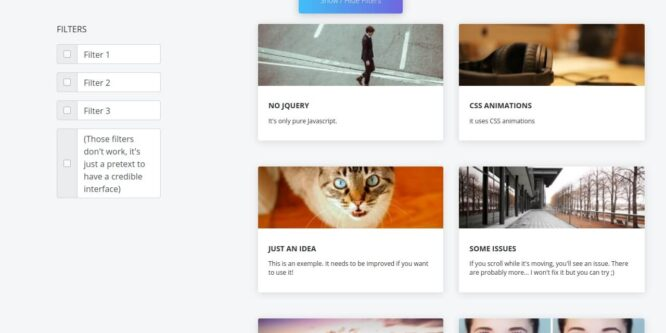 ANIMATE A BOOTSTRAP GRID (JS/CSS)