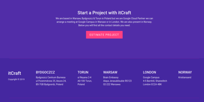 BOOTSTRAP 4 FOOTER TEMPLATE