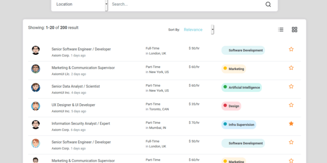 BOOTSTRAP GENERAL SEARCH RESULTS
