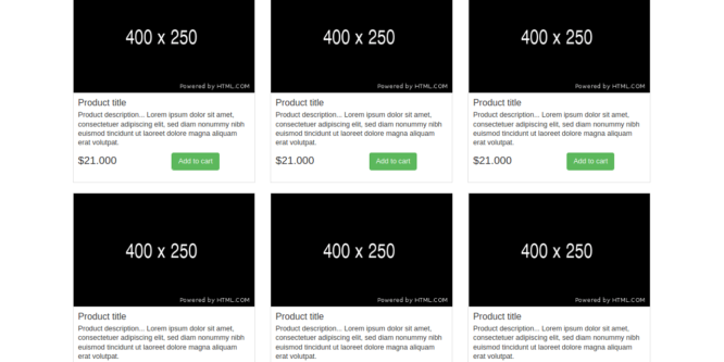 BOOTSTRAP GRID LIST VIEW