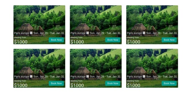 BOOTSTRAP GRID WITH HOVER EFFECT