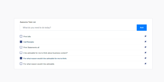 BOOTSTRAP 4 AWESOME TODO LIST TEMPLATE