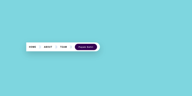BOOTSTRAP 4 BREADCRUMB WITH ARROW AND BUTTON
