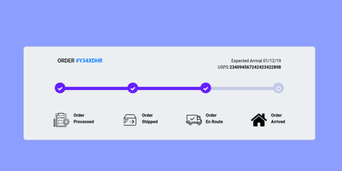 BOOTSTRAP 4 ORDER TRACKING PROGRESSBAR WITH ICONS