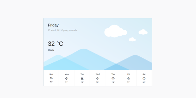 BOOTSTRAP 4 WEATHER REPORT