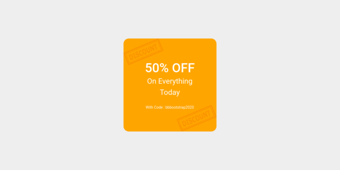 BOOTSTRAP 5 COUPONS