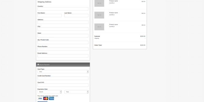 BOOTSTRAP CART CHECKOUT PAYMENT
