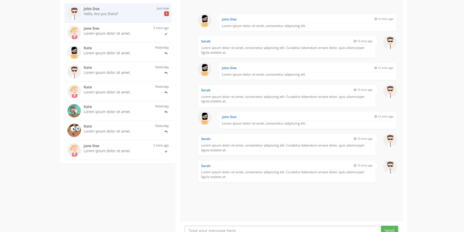 BOOTSTRAP CHAT ROOM