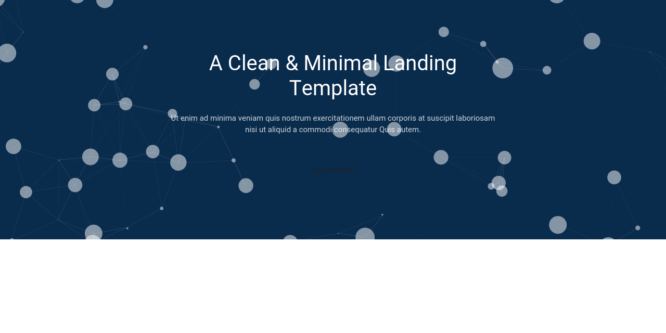 BOOTSTRAP 4 HEADER WITH PARTICLES