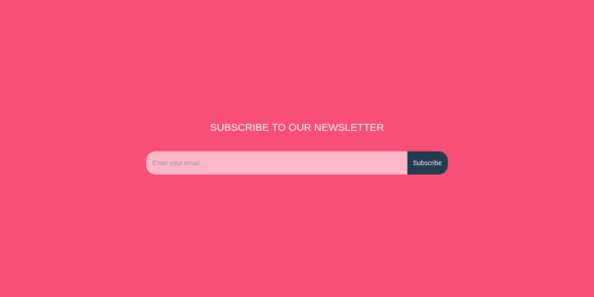 BOOTSTRAP NEWSLETTER SUBSCRIPTION FORM