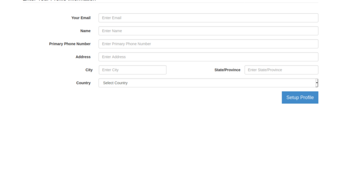 BOOTSTRAP PAYMENT WIZARD FORM