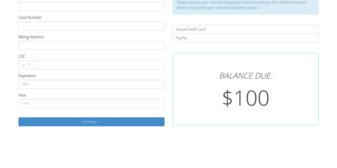 BOOTSTRAP STRIPE PAYMENT FORM
