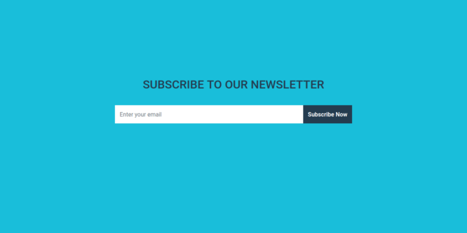 BOOTSTRAP SUBSCRIBE NEWSLETTER FORM