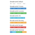 BOOTSTRAP TRIANGLE BREADCRUMBS ARROWS