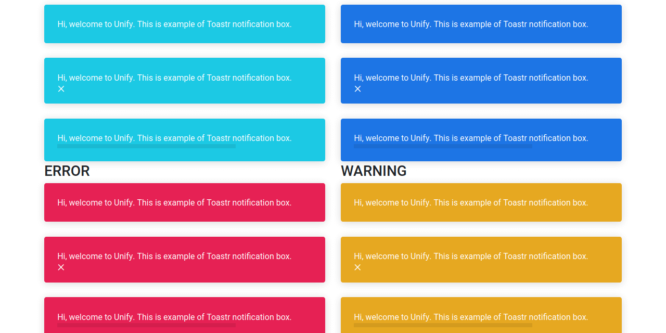 BOOTSTRAP UNIFY COLORFUL NOTIFICATIONS