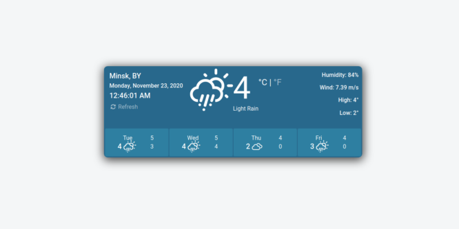 BOOTSTRAP WEATHER APP