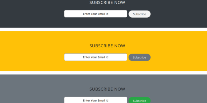 NEWSLETTER SUBSCRIPTION FORM IN BOOTSTRAP 4