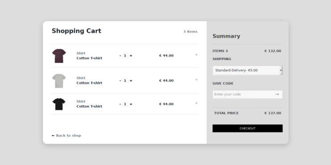 BOOTSTRAP 4 ECOMMERCE SHOPPING CART