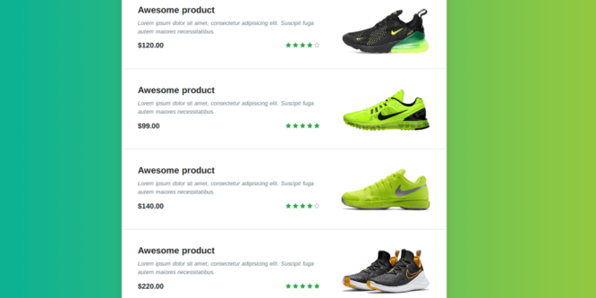 BOOTSTRAP PRODUCTS LIST