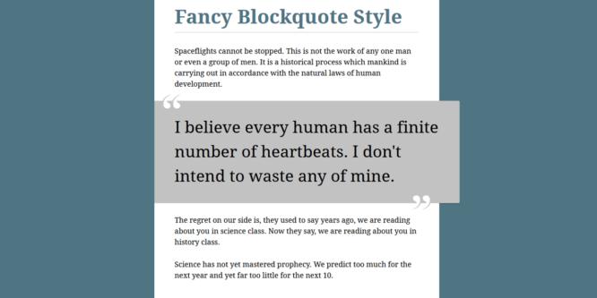 FANCY BLOCKQUOTE STYLE