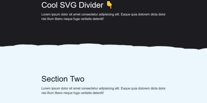 SVG SECTION DIVIDER