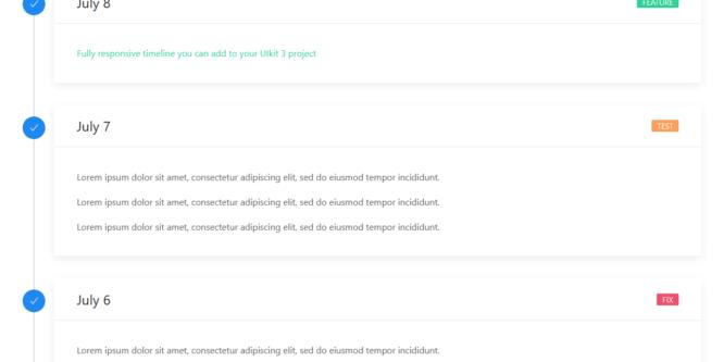UI KIT 3 CSS TIMELINE